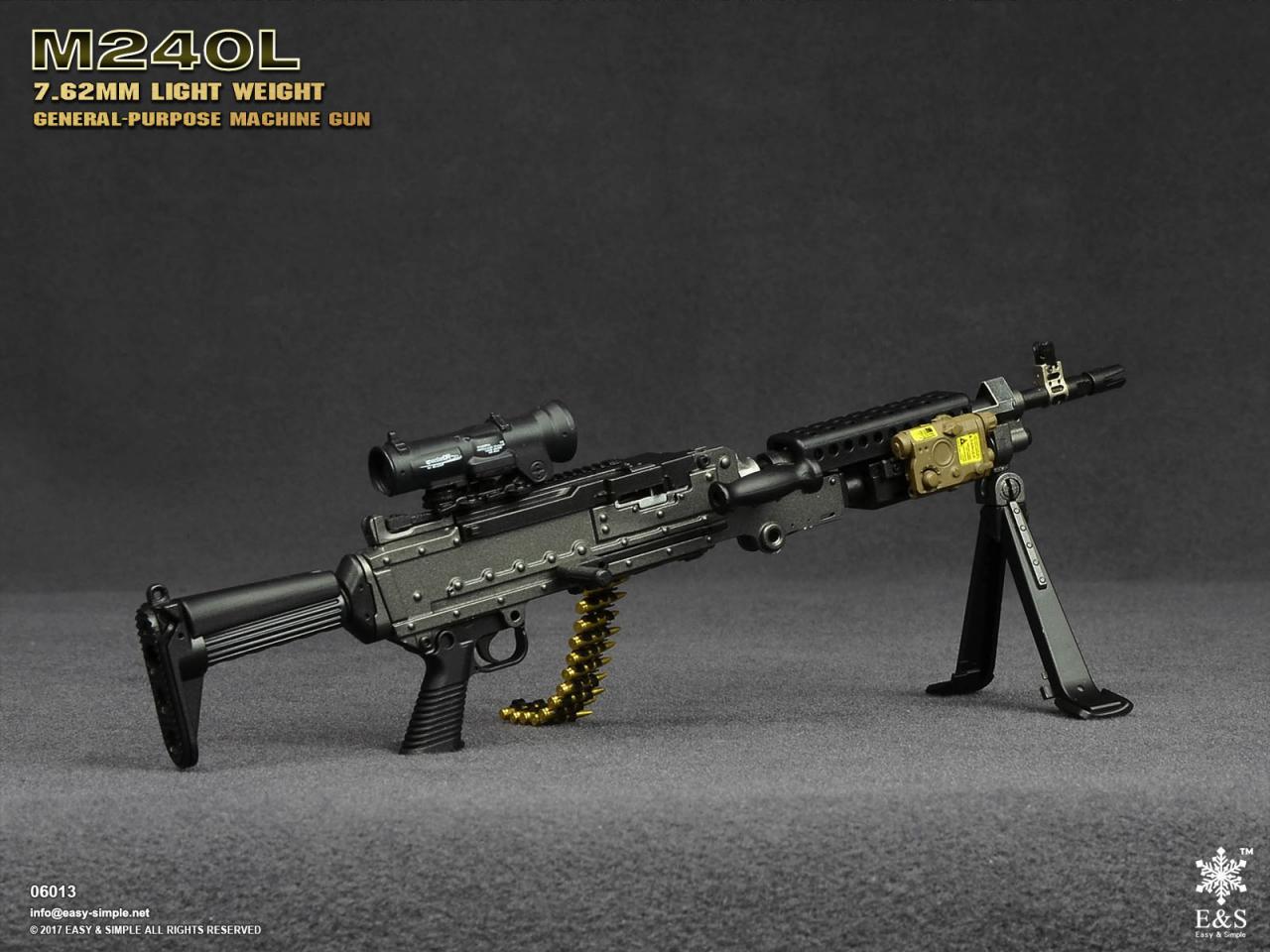 Easy&Simple 06013 M240L 7.62mm Light Weight General Purpose Machine Gun-06013-1-jpg