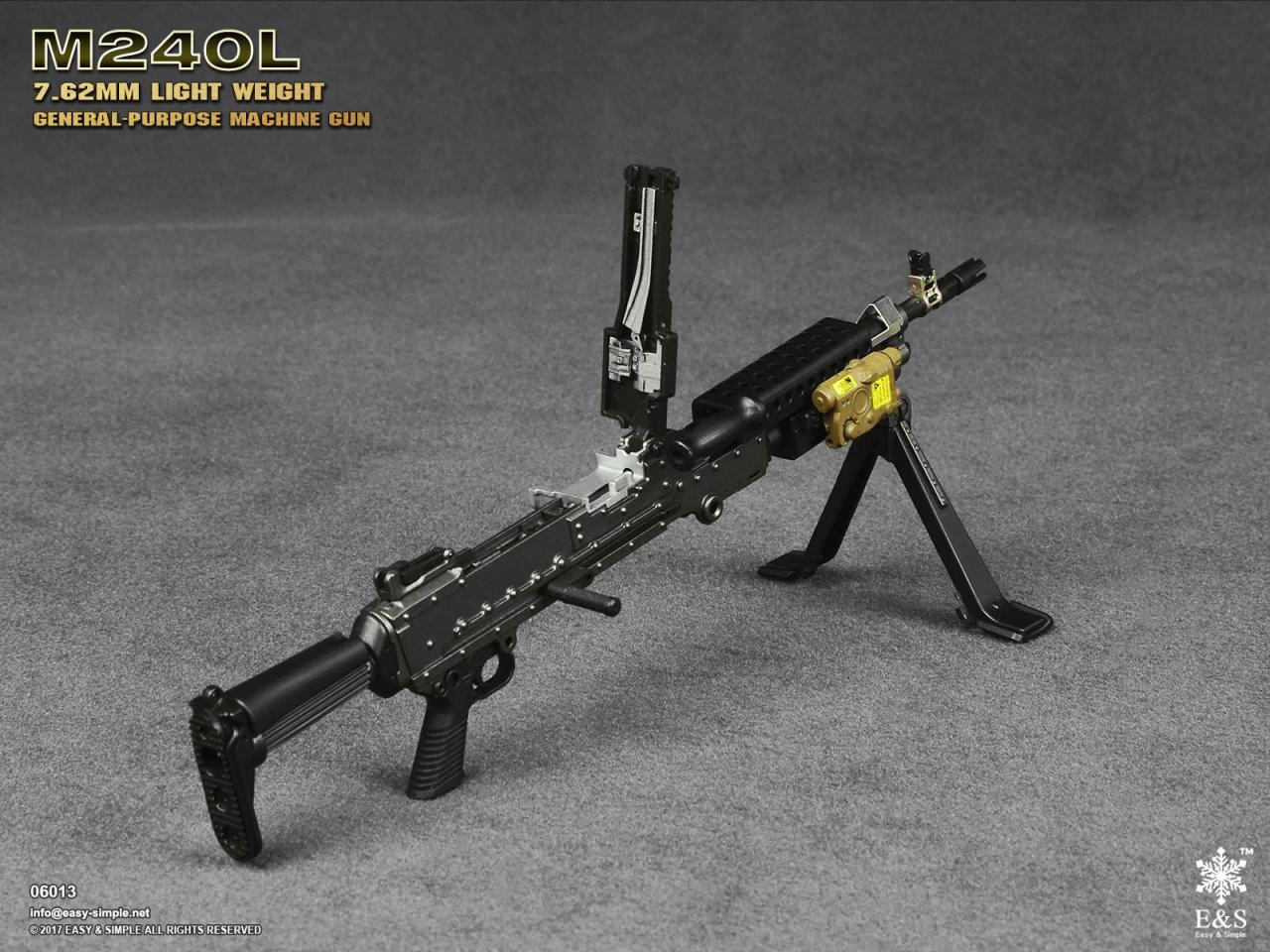 Easy&Simple 06013 M240L 7.62mm Light Weight General Purpose Machine Gun-06013-10-jpg