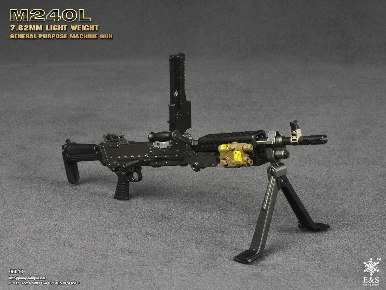 Easy&Simple 06013 M240L 7.62mm Light Weight General Purpose Machine Gun-06013-11-jpg