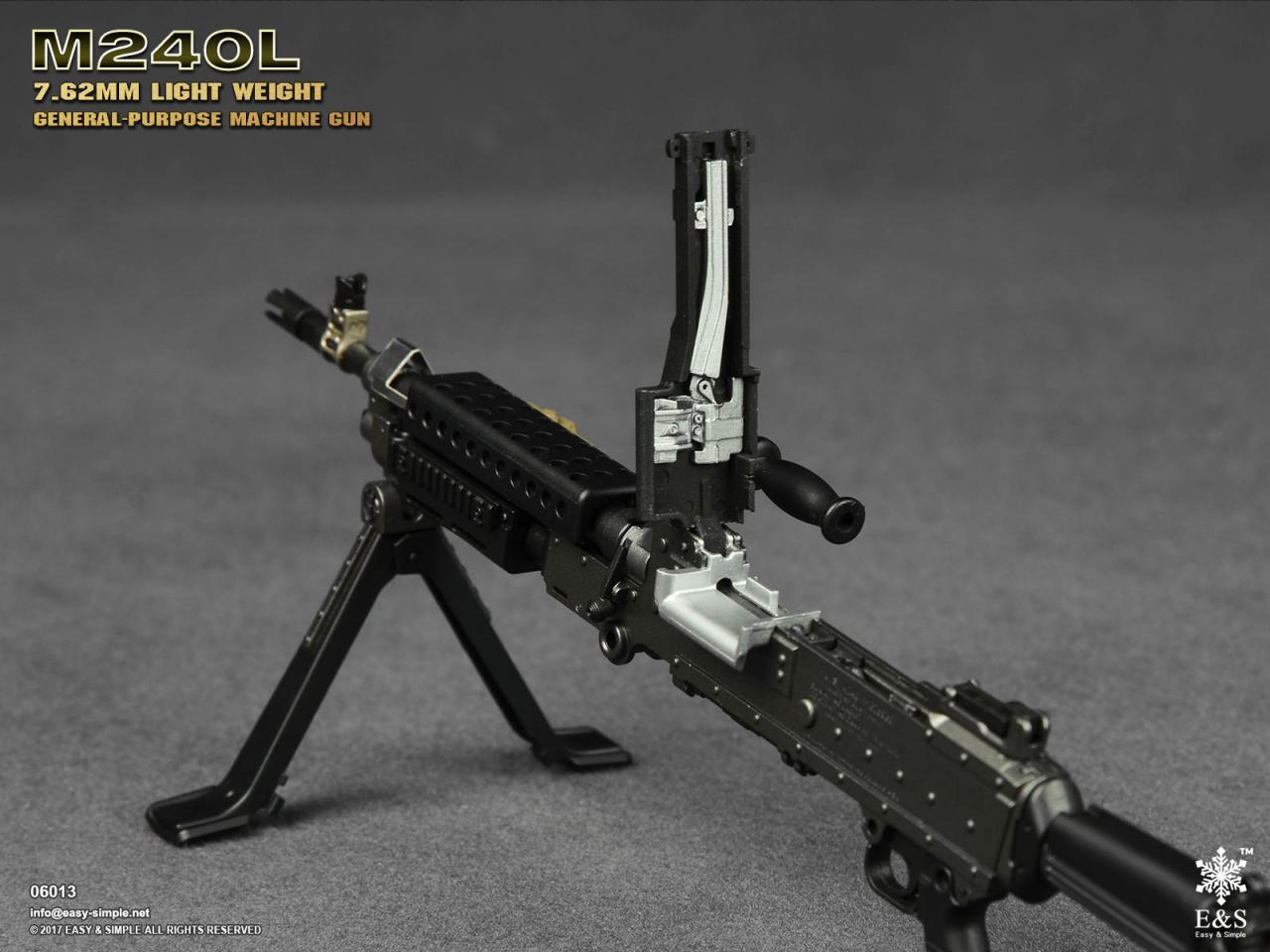 Easy&Simple 06013 M240L 7.62mm Light Weight General Purpose Machine Gun-06013-12-jpg