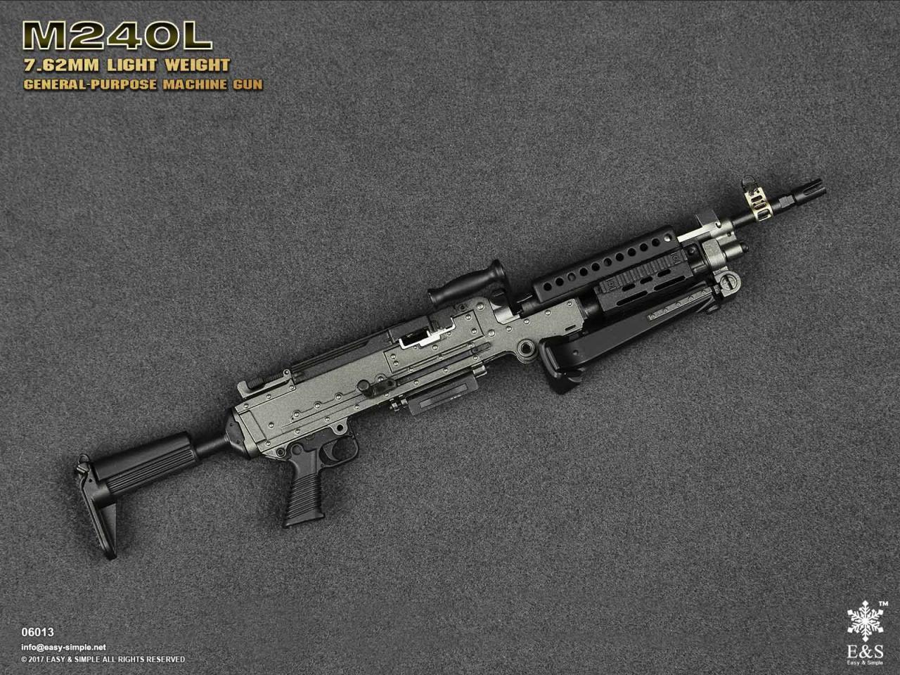 Easy&Simple 06013 M240L 7.62mm Light Weight General Purpose Machine Gun-06013-14-jpg