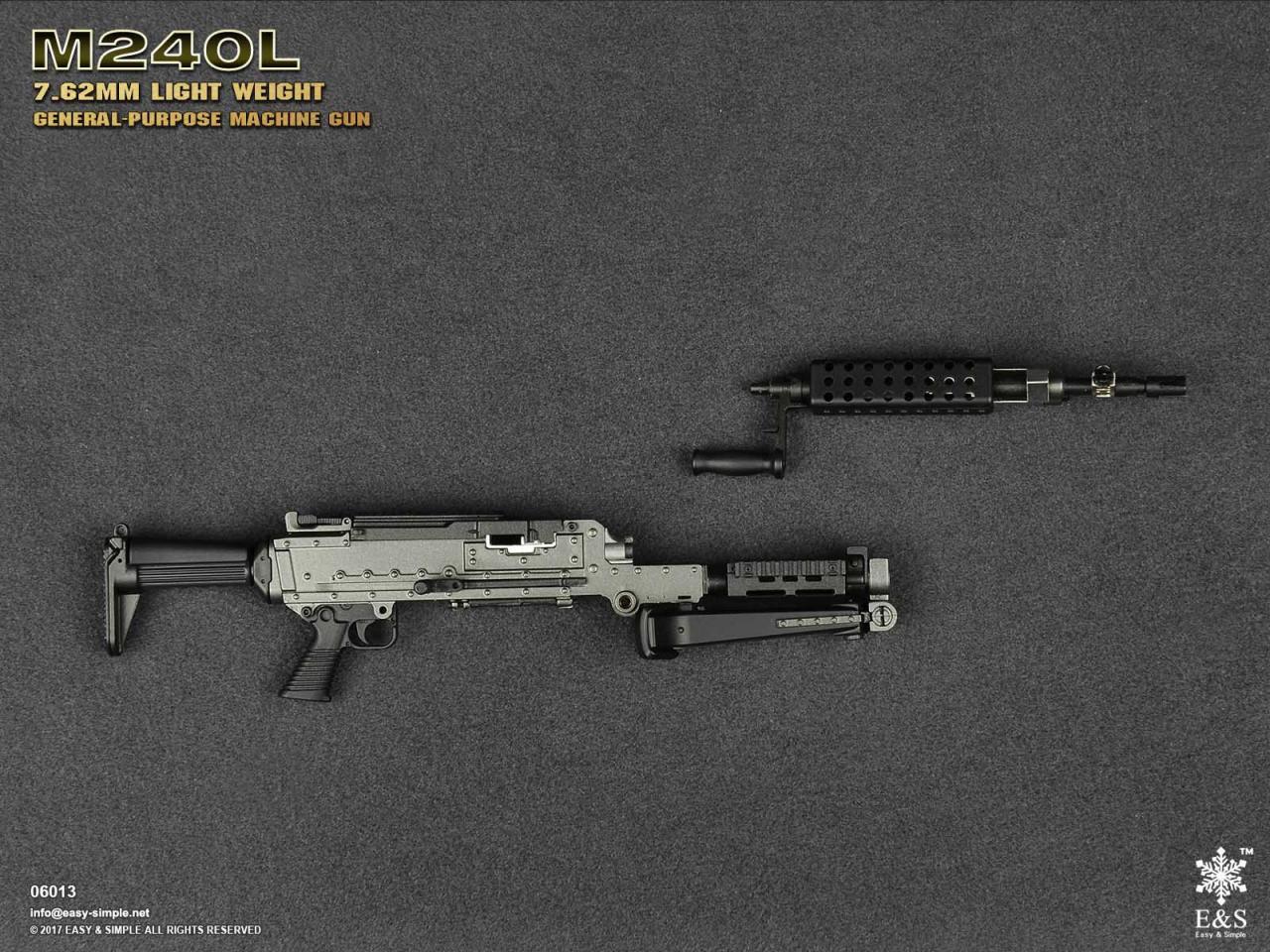 Easy&Simple 06013 M240L 7.62mm Light Weight General Purpose Machine Gun-06013-18-jpg