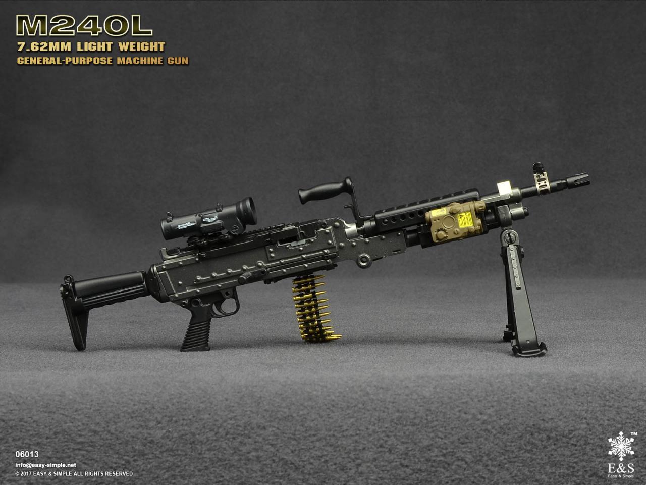 Easy&Simple 06013 M240L 7.62mm Light Weight General Purpose Machine Gun-06013-2-jpg