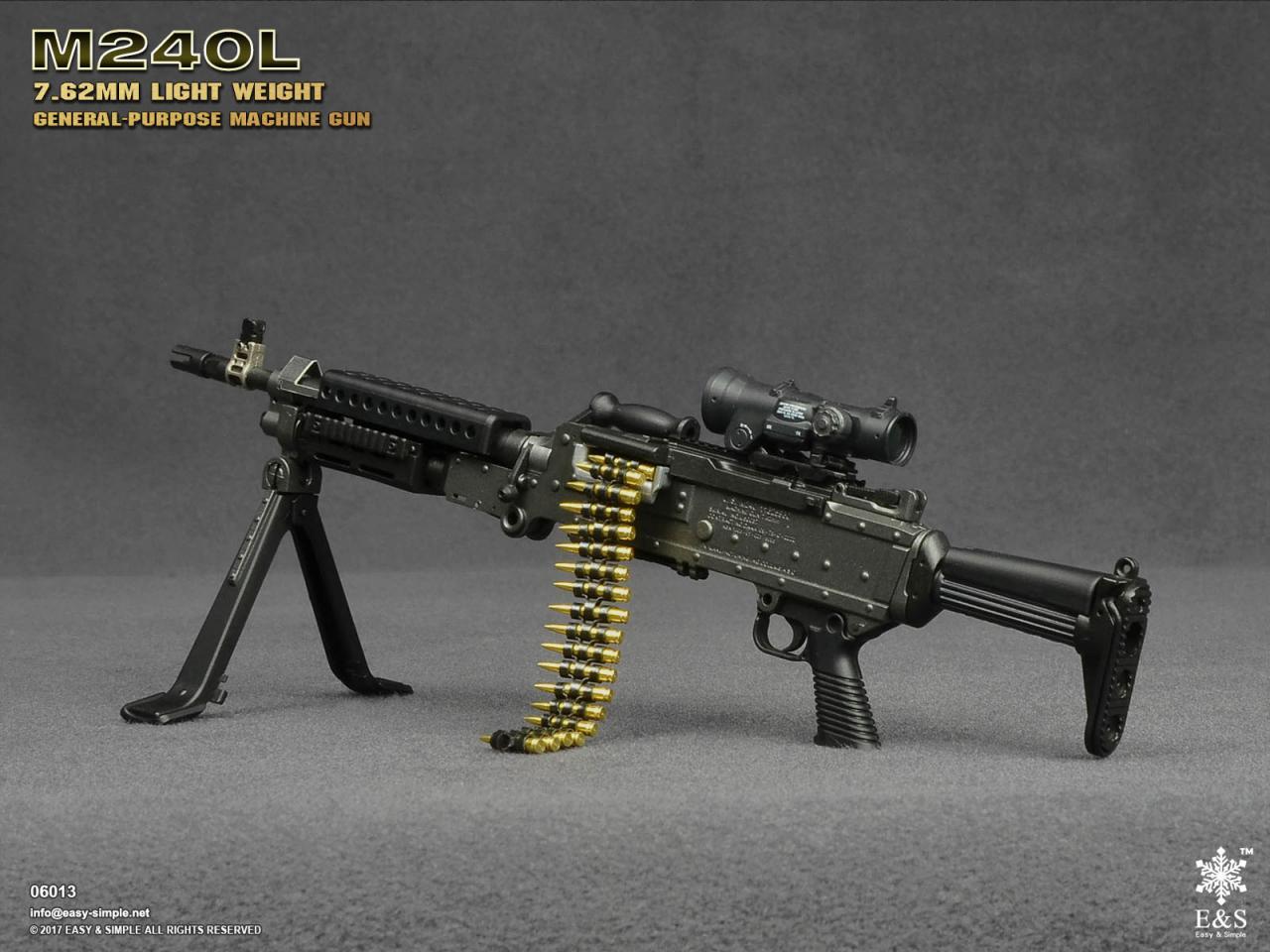 Easy&Simple 06013 M240L 7.62mm Light Weight General Purpose Machine Gun-06013-3-jpg