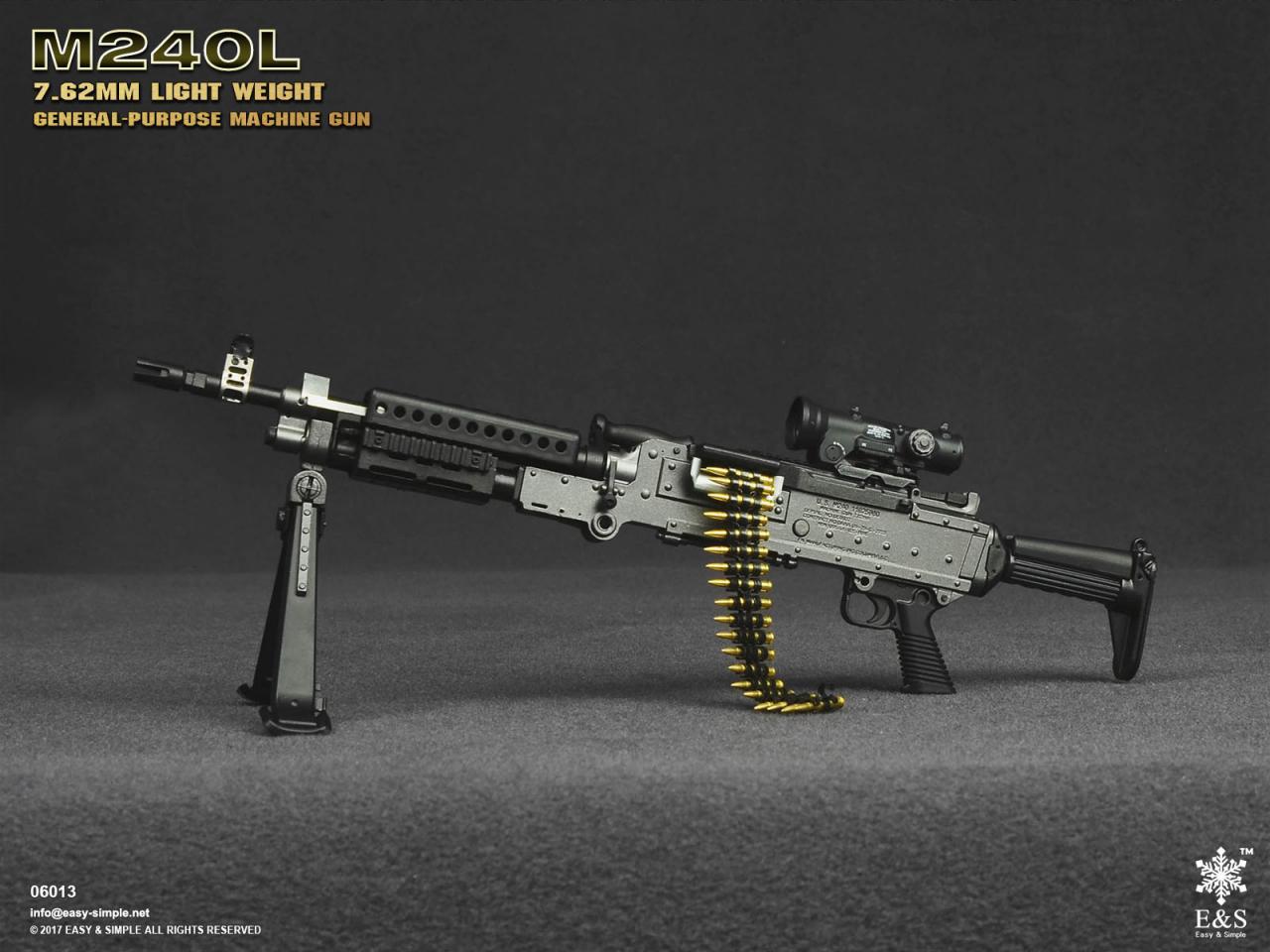 Easy&Simple 06013 M240L 7.62mm Light Weight General Purpose Machine Gun-06013-4-jpg