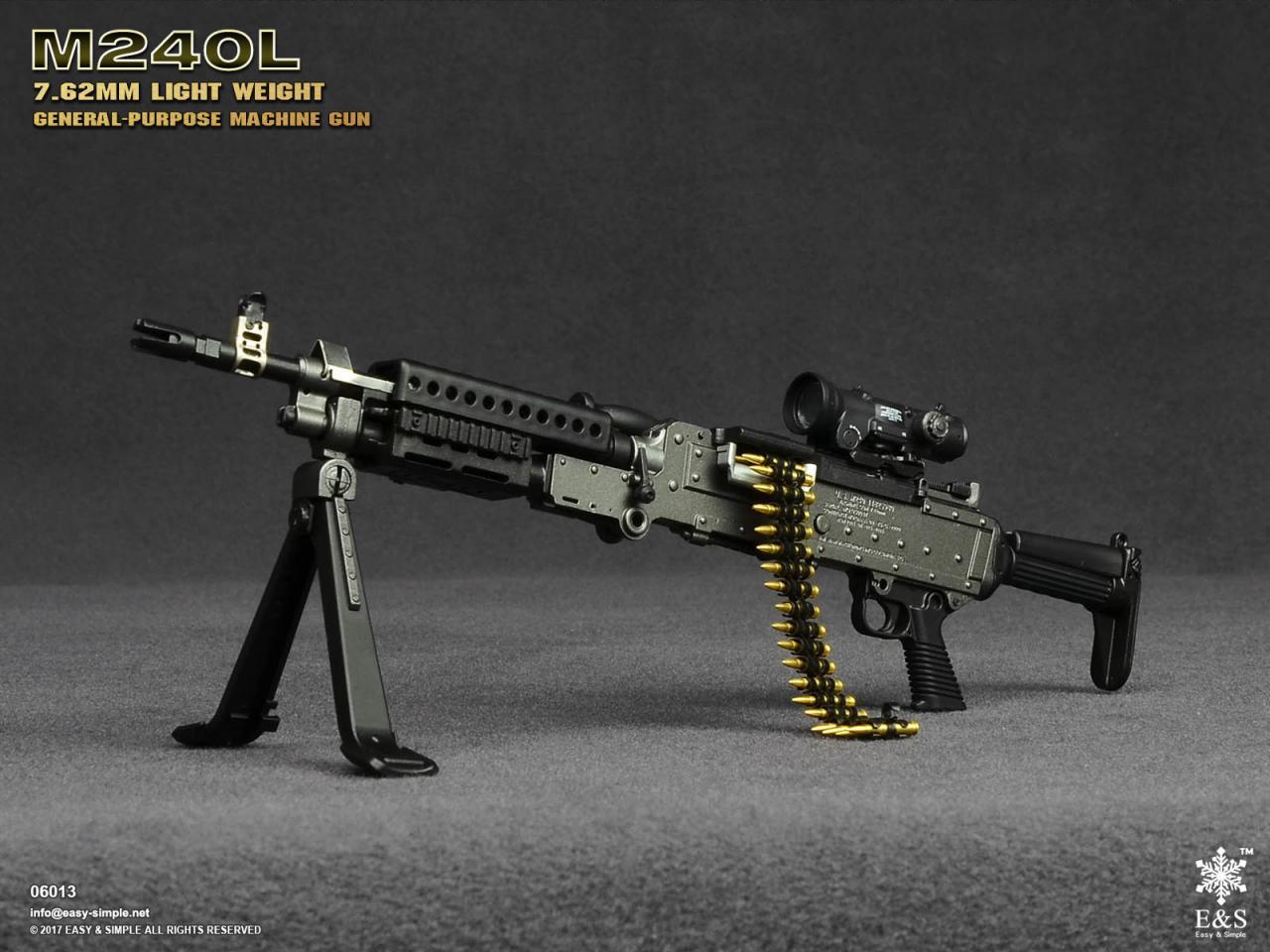 Easy&Simple 06013 M240L 7.62mm Light Weight General Purpose Machine Gun-06013-5-jpg