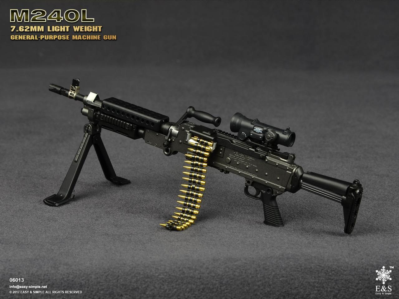 Easy&Simple 06013 M240L 7.62mm Light Weight General Purpose Machine Gun-06013-6-jpg