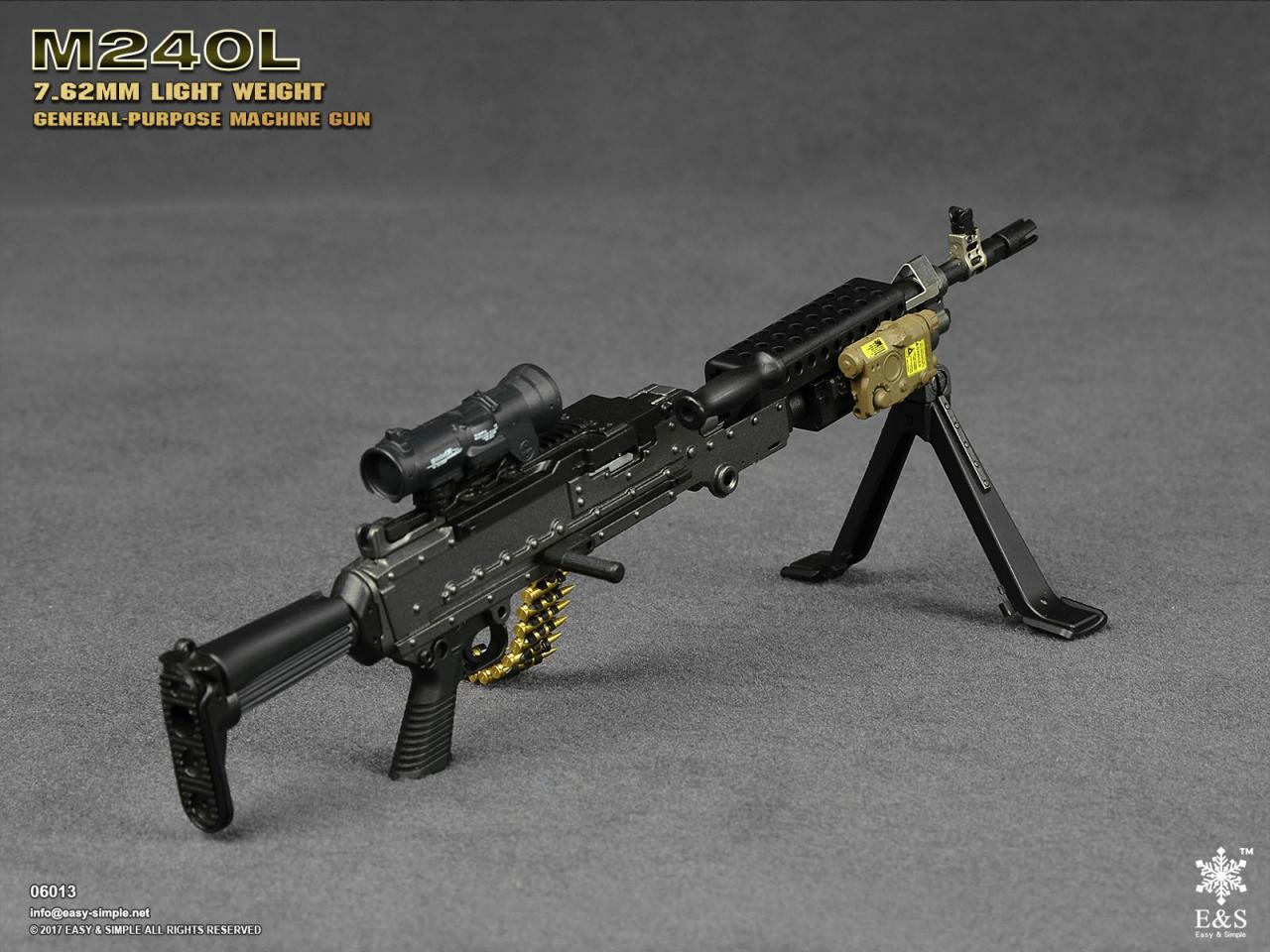 Easy&Simple 06013 M240L 7.62mm Light Weight General Purpose Machine Gun-06013-7-jpg