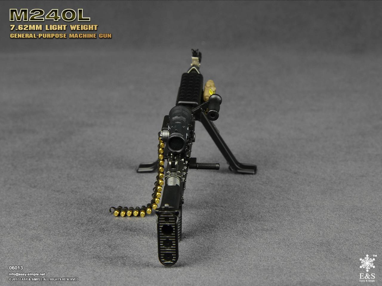 Easy&Simple 06013 M240L 7.62mm Light Weight General Purpose Machine Gun-06013-8-jpg