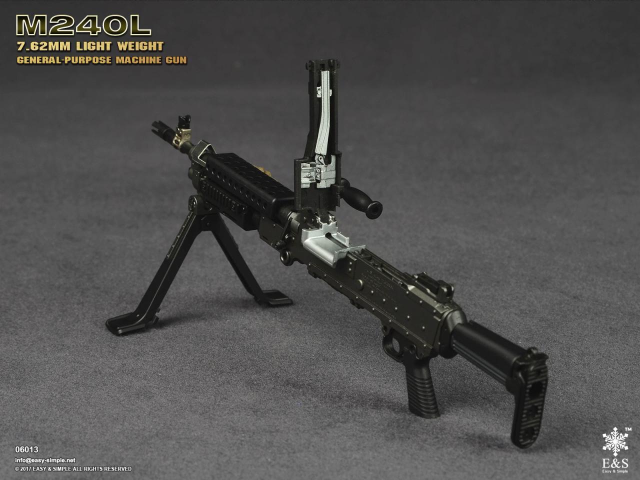 Easy&Simple 06013 M240L 7.62mm Light Weight General Purpose Machine Gun-06013-9-jpg